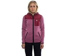 Firn Hooded Fleecejacke pink