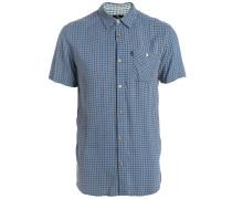 Micro Check Hemd blau