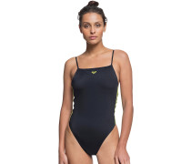 Sisters Hi Leg Sporty Swimsuit anthracite