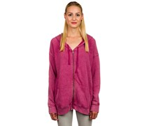 Moon Phase Fleece Kapuzenjacke pink