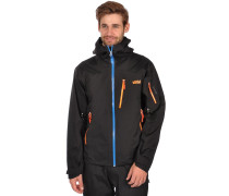 Touring Hooded Lite Softshell Jacke schwarz