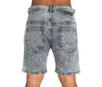Lo Slung Select Denim Shorts acid grey