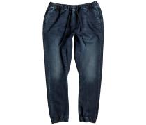 Fonic Fleece Blue Black Jeans blau
