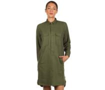 Salinas LS Dress rover green