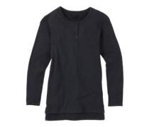 Shale Henley T-Shirt LS true black