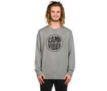 Pop Top Crew Sweater grau