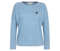 Zeich Ma Titten V T-Shirt LS light blue melange