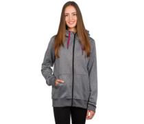Stone Dot Fleece Jacket black