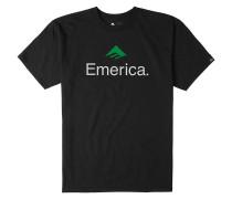 Skateboard Logo T-Shirt schwarz