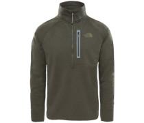 Canyonlands 1/2 Zip Fleece Pullover new taupe green heather