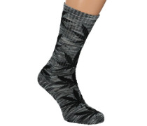 Melange Plantlife Crew Socks grey black