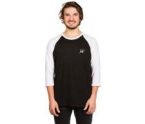 Street Ops Classic H Raglan T-Shirt LS black white