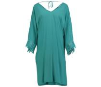 Lace Sleeve Beach Cover Up Dress blue slate