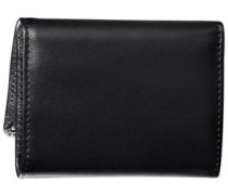 Trifold Leather Wallet black