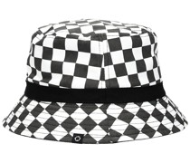 Poll Reversible Bucket Hat white checkerboard