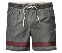 Dion Curb Boardshorts deep red