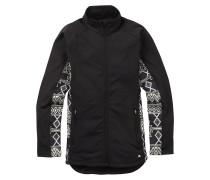 Crystal Collar Zip Jacket schwarz
