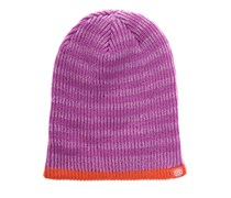 Striped Reversible Beanie violett