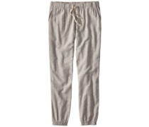 Island Hemp Beach Pants chambray: feather grey