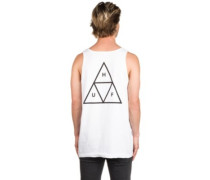 Triple Triangle Tank Top white