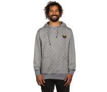 Quilted Pullover Hoodie grau