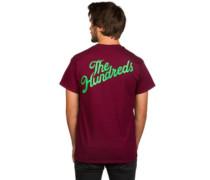 Slant Crest T-Shirt burgundy