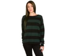 Joss Stripe Knit Cardigan dark forest