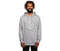 Striped Stone Fleece Hoodie grau