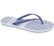 Del Sol Stripe Sandals Women navy