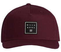 Stacked Snapback Cap oxblood