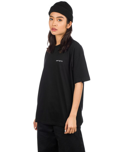 Script Embroidery T-Shirt white