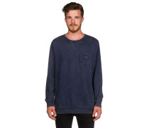 Waves Crew Sweater blau
