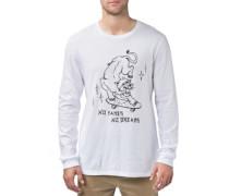 No Fakes T-Shirt LS white