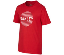Faded Circle T-Shirt red line