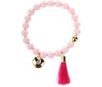 BT Tassel Pearl Bracelet with Swarovski Crystals pink