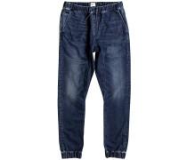 Fonic Fleece Jeans blau