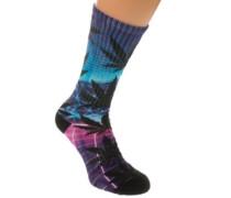 Digital Airbrush Plantlife Socks purple