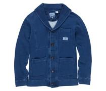 Indigo Fleece Cardigan Jacket indigo blue