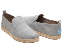 Deconstr. Alpargata Slippers Women drizzle grey slub chambra