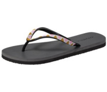 Printed Strap Sandals Women black out