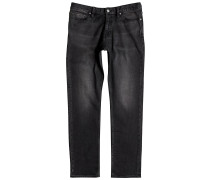 Washed Straight Jeans grau