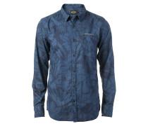 Night Flower Hemd blau