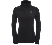 100 Glacier 1/4 Zip Fleece Pullover schwarz