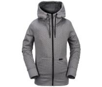 Stone Dot Fleece Jacket heather grey