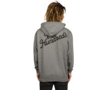 Forever Slant Zip Hoodie gunmetal heather