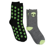 Alien Crew 2Pk Socks black