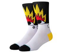 Fire And Eyes Ricardo Vacolo Socks