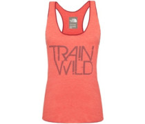Graphic Play Hard Tank Top melon red heather