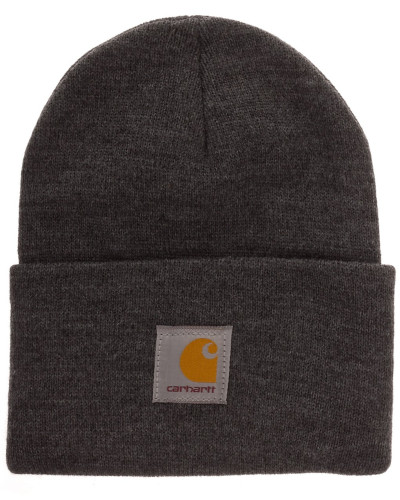 Acrylic Watch Beanie dark grey heather
