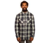 Binary Flannel Shirt LS light grey
